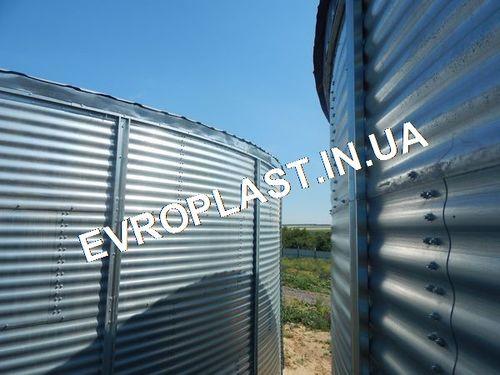 стальной вертикальный пожарный резервуар модульный